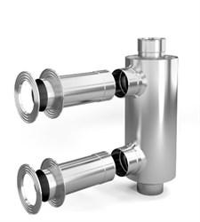 Дымоход-конвектор-1 ТМФ д/смежного помещ нерж 1/0,5мм ф115мм L=1.00м - фото 6534