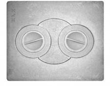 Плита чугунная П-2-8,  с конфорками, цельная, 510*430*8мм, Рубцовск - фото 6600