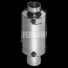 Теплообменник Феррум Комфорт самоварного типа, 12л, нерж.(AISI 201/1,0 мм), ф115 мм, L=0,5м, круглый - фото 6637