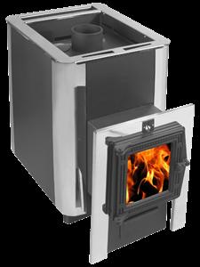 Печь для бани Конвектика ДоброПар Carbon 14 закр.каменка чуг дверца со стеклом антрацит - фото 6746