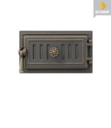 Дверца Везувий чугунная поддувальная, (236), 185*320 мм, бронза - фото 6756