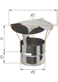 Зонт Craft нержавеющий, (316/0,5 мм), ф150, по воде - фото 6777