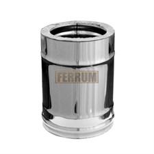 Дымоход Феррум утепленный нержавеющий (430/0,8мм)/зеркальный нержавеющий ф150/210 L=0,25м по воде - фото 6966
