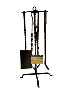 Набор для камина на стойке (4 предмета/коробка), 65см, Банный Эксперт - фото 6987