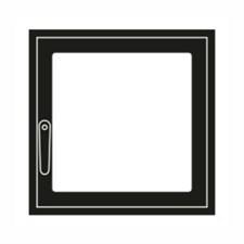 Дверца каминная ГрейВари Стандарт L, 526х508 мм - фото 7028