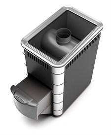 Печь для бани ТМФ Ангара Inox дверца антрацит антрацит нерж.вставки - фото 7168