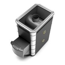 Печь для бани ТМФ Ангара Inox дверца антрацит т/обменник антрацит нерж.вставки - фото 7169