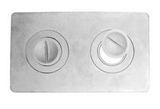 Плита чугунная П2-1, с конфорками, цельная, 585*340*8мм, Балезино - фото 7237