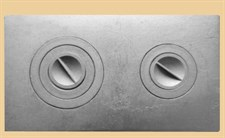 Плита чугунная ПС-2-3А, с конфорками, сборная, 710*410*8мм, Рубцовск - фото 7238