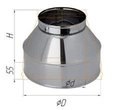 Конус Феррум нержавеющий (430/0,5 мм), ф160/250, по воде - фото 7365