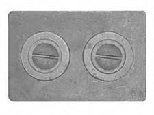 Плита чугунная П-2-7,  с конфорками, цельная, 510*340*8мм,(СТМ-П) - фото 7556