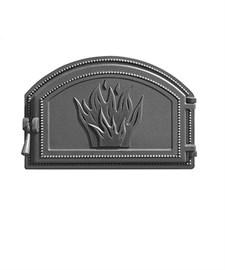 Дверца Везувий чугунная печная, (223), 496*347 мм, антрацит - фото 7564