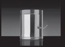 Заслонка Craft (шибер поворотный), нержавеющая (310/0,8мм), ф150 - фото 7696