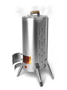 Печь-коптильня портативная ТМФ Дуплет-2 Inox, дровяная - фото 8071