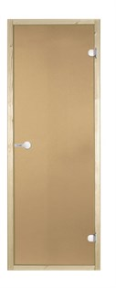 HARVIA Двери стеклянные 7/19 коробка сосна, бронза D71901M - фото 8848