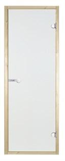 HARVIA Двери стеклянные 7/19 коробка осина, прозрачная D71904H - фото 8907