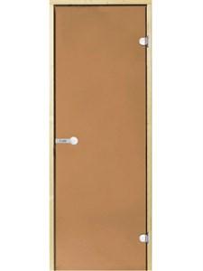 HARVIA Двери стеклянные 9/19 коробка сосна, бронза D91901M - фото 8908