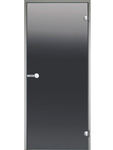 HARVIA Двери стеклянные 9/19 коробка алюминий, стекло серое, арт. DA91902 - фото 8930