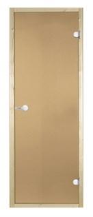 HARVIA Двери стеклянные 9/21 коробка ольха, бронза D92101L - фото 8960