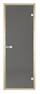 HARVIA Двери стеклянные 9/21 коробка ольха, серая D92102L - фото 8961