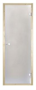 HARVIA Двери стеклянные 8/21 коробка ольха, сатин D82105L - фото 8975
