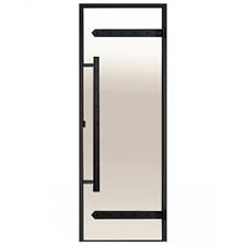 HARVIA Двери стеклянные LEGEND 8/21 черная коробка сосна, сатин D82105МL - фото 8985