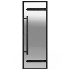 HARVIA Двери стеклянные LEGEND 8/19 черная коробка алюминий, стекло прозрачное, арт. DA81904L - фото 8989