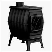 Печь-камин отопительно-варочная Бахта Черный металлик