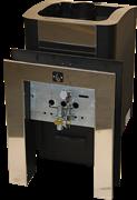 Печь для бани Конвектика Ниагара Inox 18У с ГГУ и порталом антрацит