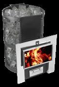 Печь для бани Конвектика Кольчуга Carbon 14 Плазма (нерж. сетка) антрацит