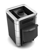 Печь для бани ТМФ Оса Carbon дверца антрацит короткий топливный канал антрацит нерж.вставки
