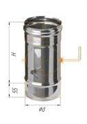 Заслонка Феррум (шибер поворотный) нержавеющая (430/0,5мм), ф115