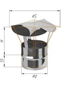 Зонт Феррум нержавеющий (430/0,5 мм), ф115, по воде