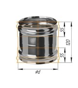 Адаптер Феррум ММ для печи нержавеющий (430/0,5 мм) ф120