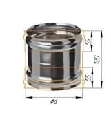 Адаптер Феррум ММ для печи нержавеющий (430/0,8 мм) ф120