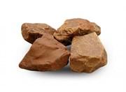 Камень для бани Яшма сургучная окатанная, 10 кг, ведро