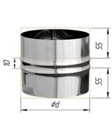 Адаптер Феррум ПП для печи нержавеющий (430/0,5 мм) ф120