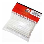 Шнур уплотнительный из керамического волокна, 6мм, L=3м, белый, FireWay