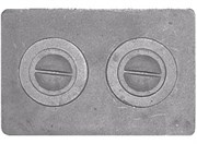 Плита чугунная П-2-7,  малая цельная, 510*340*15мм, Рубцовск
