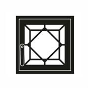 Дверца каминная ГрейВари Кристалл М, 460х442 мм