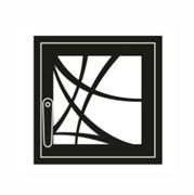 Дверца каминная ГрейВари Арт-деко М, 460х442 мм