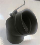 Шибер ТМФ ф120 мм, 1,5мм, 08ПС угловой, антрацит (Огонь-батарея)