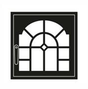 Дверца каминная ГрейВари Витраж L, 526х508 мм