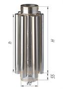 Дымоход-конвектор Феррум нержавеющий (430/0,8мм) ф150 L=0,5м