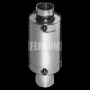 Теплообменник Феррум Комфорт самоварного типа, 12л, нерж.(AISI 201/1,0 мм), ф115 мм, L=0,5м, круглый
