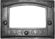 Дверца чугунная каминная ДК-2С 435*320*92 мм, со стеклом, Рубцовск