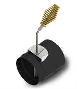 Шибер ТМФ ф150 мм, 1,5мм, 08ПС прямой, антрацит, экспортный (Доцент, Герма, Яуза)