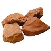 Камень для бани Яшма сургучная окатанная, 15 кг, ведро