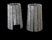 Комплект облицовки Grill'D Vega stone short/long серпентинит антик премиум