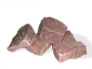 Камень для бани Кварцит малиновый, обвалованный, 20 кг, коробка